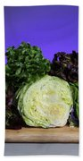 A Variety Of Lettuce Beach Towel by Photo Researchers, Inc.