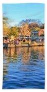 A View Of Disneyland From Tom Sawyer Island  Beach Towel