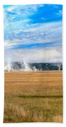 A View Of Geysers  Beach Towel