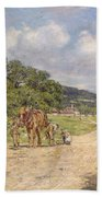 A Village Scene Beach Towel