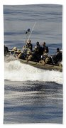 A Visit, Board, Search And Seizure Team Beach Towel by Stocktrek Images