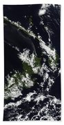 A Volcanic Plume From The Rabaul Beach Towel by Stocktrek Images