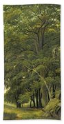 A Wooded Landscape  Beach Towel