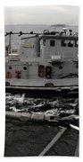 A Yokosuka Naval Tugboat Prepares Beach Towel
