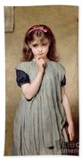 A Young Girl In The Classroom Beach Towel