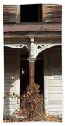 Abandoned House Facade Rusty Porch Roof Beach Towel