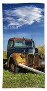 Abandoned Rusty Truck Beach Towel