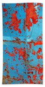 Abstrac Texture Of The Paint Peeling Iron Drum Beach Towel