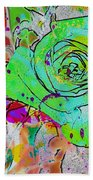 Abstract Childlike Rose Beach Towel