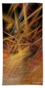 Abstract Crisscross Beach Towel