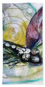 Abstract Dragonfly 11 Beach Towel