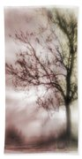Abstract Fall Trees Beach Sheet