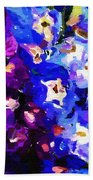 Abstract Floral 031112 Beach Towel