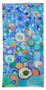 Abstract Flowers Field Beach Towel