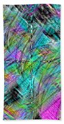 Abstract In Chalk Beach Towel