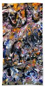 Abstract Interconnection Beach Towel