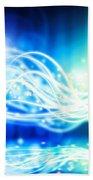 Abstract Lighting Effect  Beach Towel