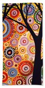 Abstract Modern Tree Landscape Distant Worlds By Amy Giacomelli Beach Towel