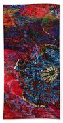 Abstract Red Poppy Beach Towel