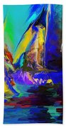 Abstract Regatta Beach Towel