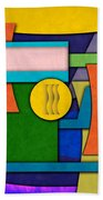 Abstract Shapes Color One Beach Towel