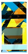 Abstract Sine L 15 Beach Towel