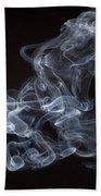 Abstract Smoke Running Horse Beach Towel