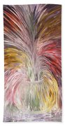 Abstract Vase And Energy Mouvement Beach Towel