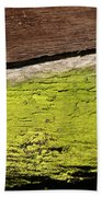Abstract With Green Beach Towel