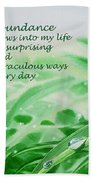 Abundance Affirmation Beach Towel