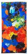 Acrylic Abstract Upon Wood Beach Towel