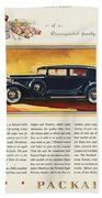 Ads: Packard, 1932 Beach Towel