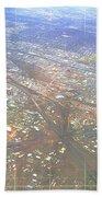 Aerial Graph Beach Towel