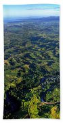 Aerial View Of The Nadi River Winding Beach Towel