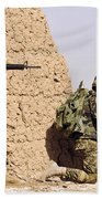 Afghan Soldiers Conduct A Dismounted Beach Towel by Stocktrek Images