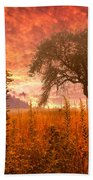 Aflame Beach Towel by Debra and Dave Vanderlaan