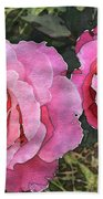 After The Summer Rain Watercolor Beach Towel