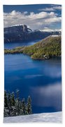 Afternoon Clearing At Crater Lake Beach Towel