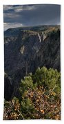 Afternoon Clouds Over Black Canyon Of The Gunnison Beach Towel