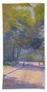 Afternoon In The Park Beach Towel