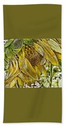 Afternoon Sunflower Beach Towel