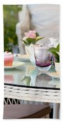 Afternoon Tea And Cakes Beach Towel
