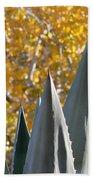 Agave Spikes In Autumn Beach Towel