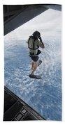 Air Force Pararescueman Jumps Beach Towel