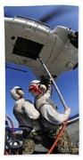 Airmen Attach Pallet Rigs To An Sa-330j Beach Towel