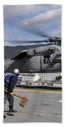 Airmen Prepare To Chock And Chain An Beach Towel