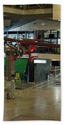 Airport Before The Busy Day. Vilnius. Lithuania. Beach Towel