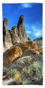Alabama Hills Granite Fingers Beach Towel by Bob Christopher