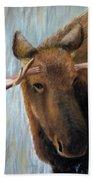 Alaskan Bull Moose Beach Towel