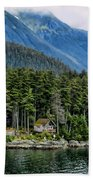 Alaskan Mountain Retreat Beach Towel